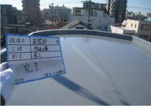 名古屋市での(株)ダイフレックス ウレタン防水(屋上)DSカラーafter