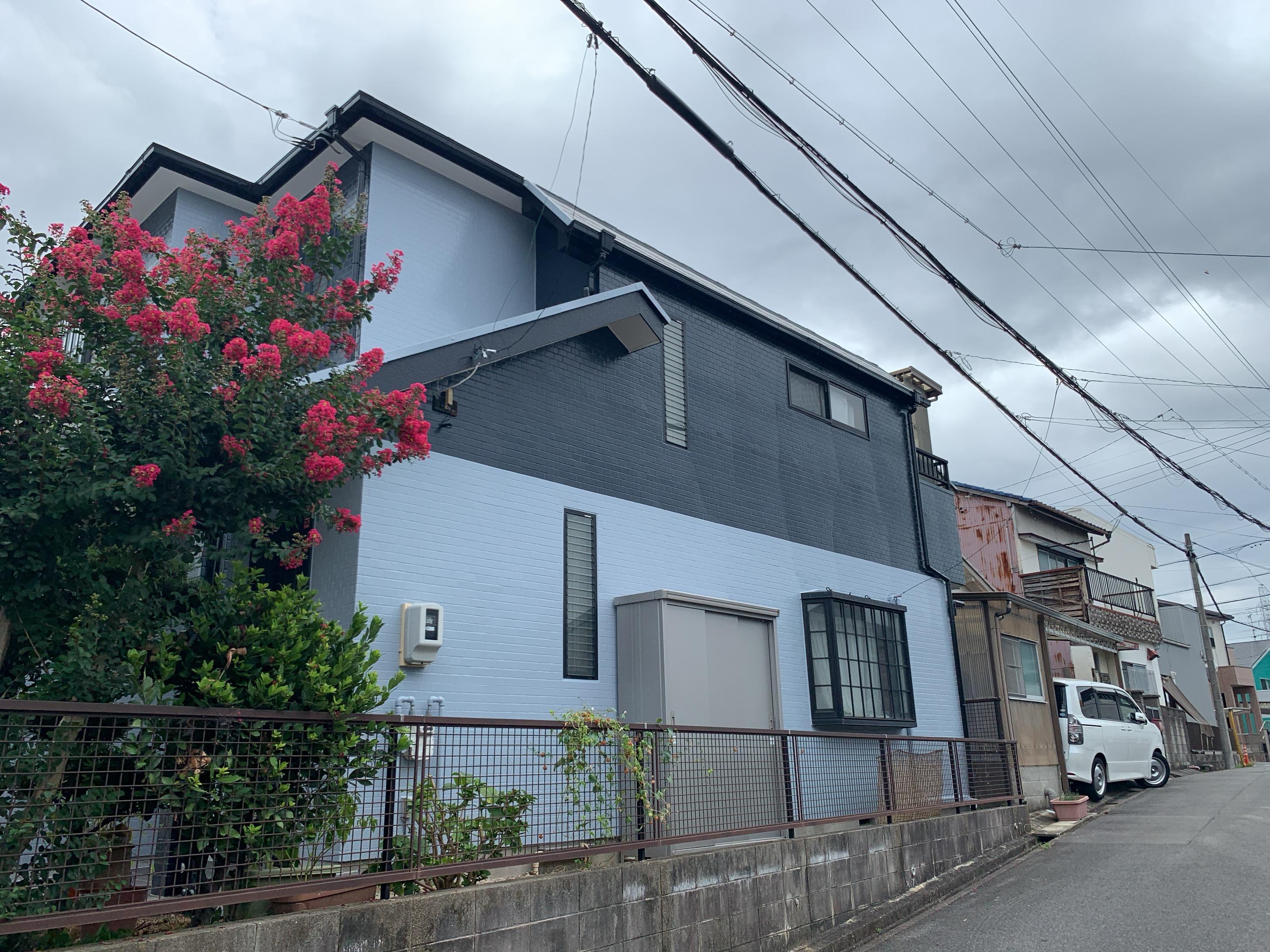 名古屋市での日本ペイント(株)材料名:ファインSi シリコン塗装(外壁)after