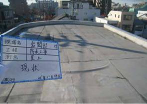 名古屋市での(株)ダイフレックス ウレタン防水(屋上)DSカラーbefore