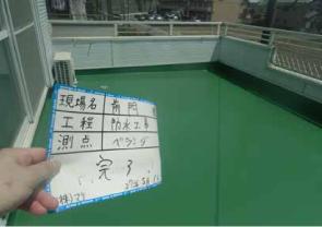名古屋市での(株)ダイフレックス ウレタン防水(ベランダ)DSカラーafter